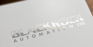 Blackrock Logo in Silver Foil