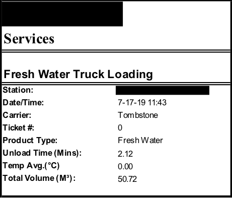 BigRack Loading Truck Ticket Temp